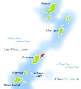on the western side of the Grenadines is the Caribbean Sea; on the eastern the Atlantic Ocean.