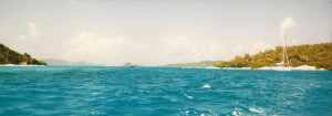 Panorama of the southern Caribbean Sea.