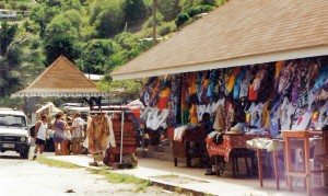 Bequia Local Color clothing storefront.