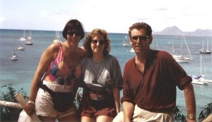 The 3 of us on Martinique before we set sail.